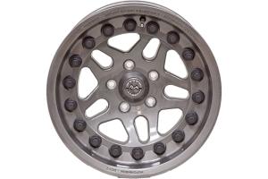 Hutchinson Rock Monster Beadlock Wheel, Argent 17x8.5 5x5 - JT/JL/JK