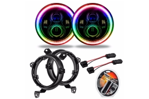 Oracle 7in. High Powered LED Headlights - Pair - ColorSHIFT - JT/JL