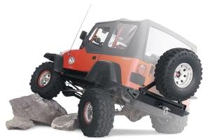 Warn Rear Bumper w/ Optional Tire Carrier - TJ