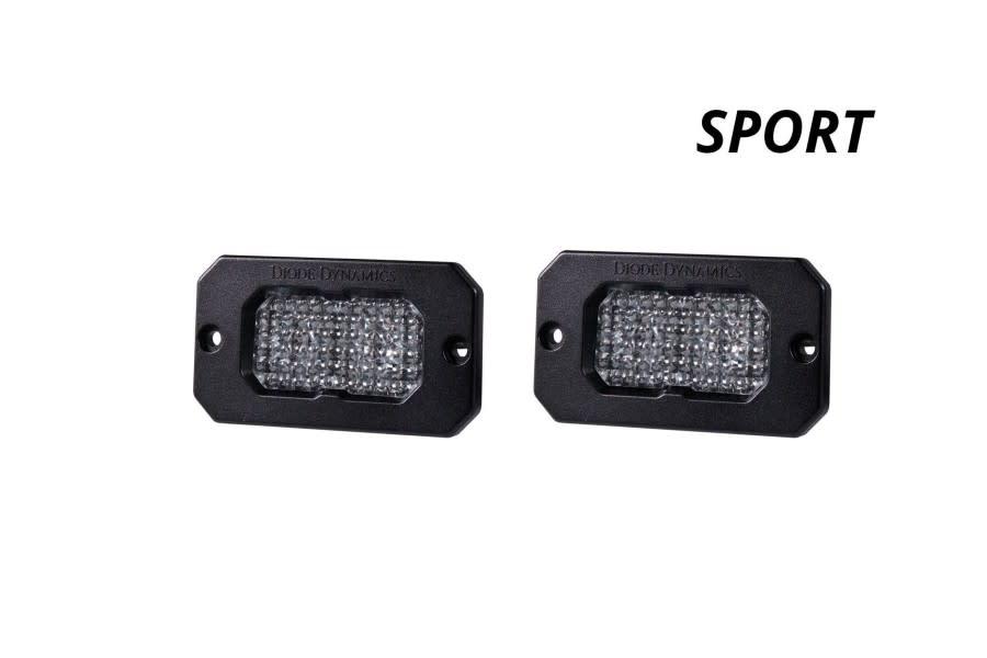 Diode Dynamics SS2 Sport Flush Mount LED Pods - White/White Flood
