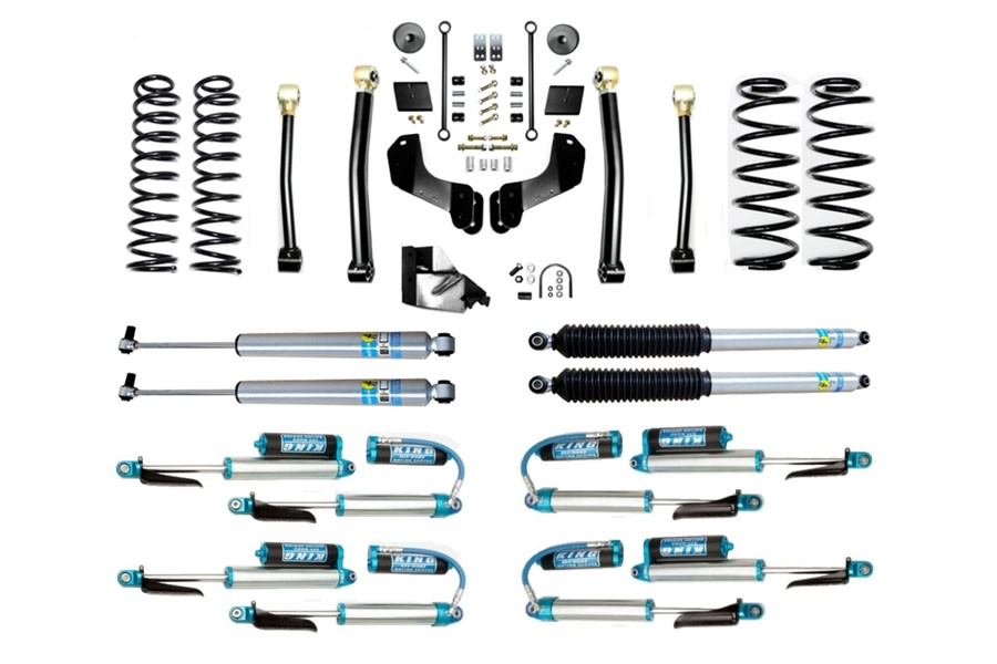 Evo Manufacturing HD 4.5in Enforcer Overland Stage 3 Lift Kit w/ Shock Options - JL