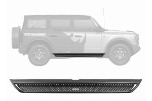 Go Rhino Dominator Extreme D1 Side Step Kit - Black - Ford Bronco 4Dr