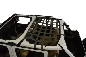 Dirty Dog 4x4 Rear Seat Netting, Olive Drab Green - JL 4Dr