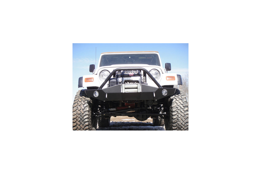 LOD Signature Series Full Width Front Bumper w/Bull Bar Black Powder Coated (Part Number:JFB9623)