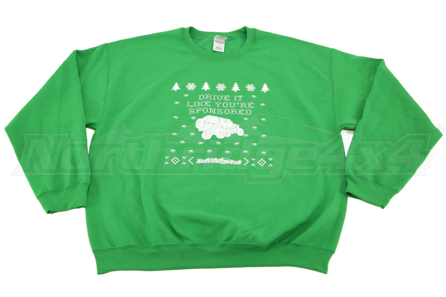 Northridge4x4 Ugly Green Christmas Sweater  (Part Number:SWEATER2014-G)