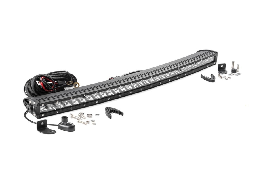Rough Country 30in Chrome Series Single Row Curved Light Bar (Part Number:72730)