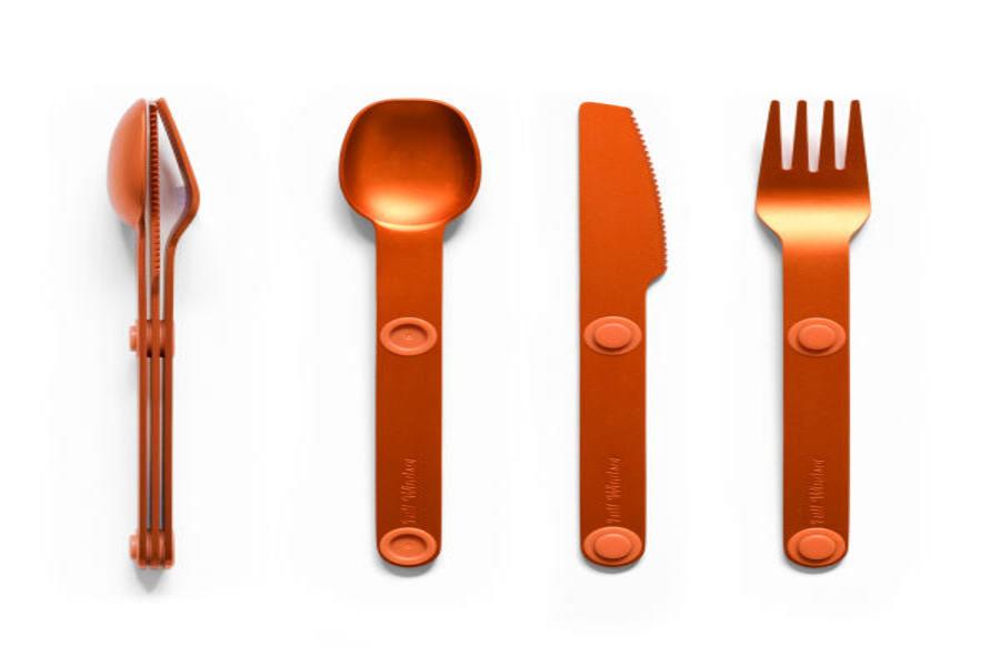 Full Windsor Magware Magnetic Flatware, Single Set - Orange