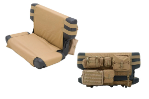 Smittybilt G.E.A.R. Rear Cargo Seat Cover Coyote Tan (Part Number: )