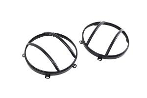 Kentrol Euro Headlight Guard Set - Powdercoat Black  - JK