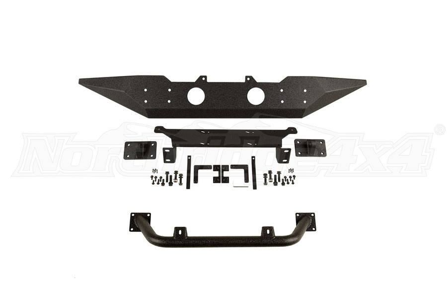 Rugged Ridge Spartan Front Bumper w/ Spartan Overrider (Part Number:SPARTANPKG)