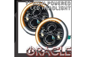 Oracle Switchback LED Halo Headlights - Pair - JK