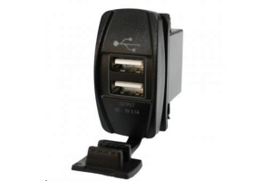Lifetime LED Dual USB Charging Rocker Switch