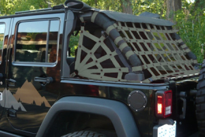 Dirty Dog 4x4 Rear Netting Olive (Part Number: )