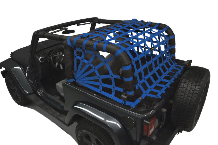 Dirty Dog 4x4 Spider Netting Rear Blue (Part Number:J2NN07RSBL)