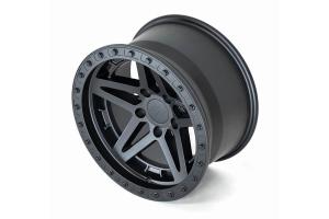 Addictive Desert Design Stealth Fighter Matte Black Wheel, 17x9 5x5    - JT/JL/JK