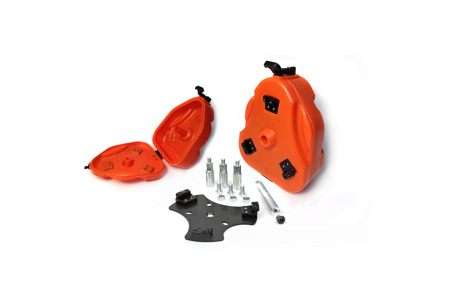 Daystar Cam Can 2 Gallon Storage Container Kit Orange (Part Number:KJ71035OR)
