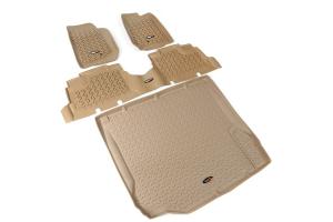 Rugged Ridge Floor Liner Kit, Tan - JK 4dr 2007-10