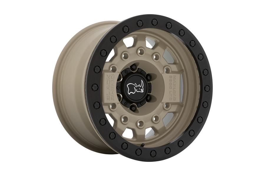 Black Rhino Avenger Beadlock Wheel, 17x8.5 5x5 - Desert Sand - JT/JL/JK