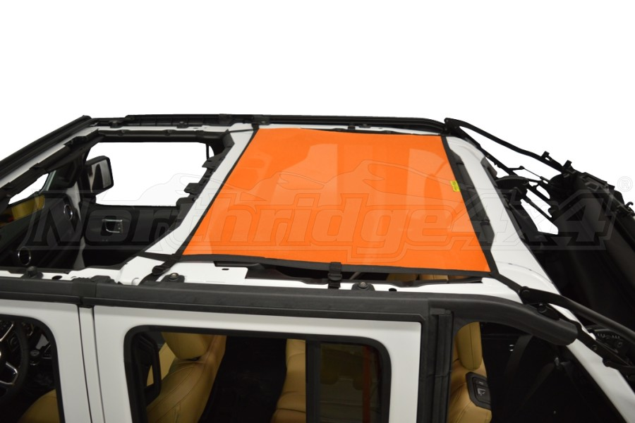 Dirty Dog 4x4 Sun Screen Rear - Orange (Part Number:JL4S18R1OR)