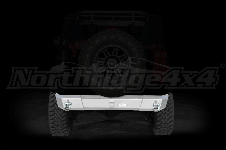 LOD Signature Series Shorty Rear Bumper w/out Light Cutouts Bare Steel - JK