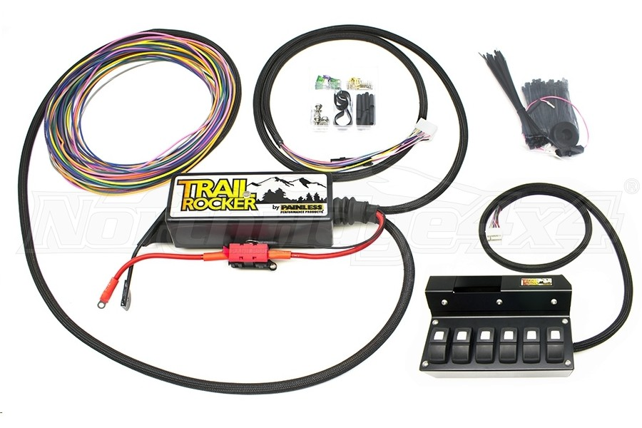 Painless Performance Products Trail Rocker Accesory Control System w/Overhead 6 Switch Box (Part Number:57003)