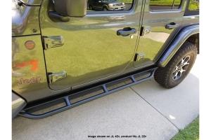 Rock Hard 4x4 Patriot Series Tube Slider Rocker Guards - Angled Down - JL 2Dr