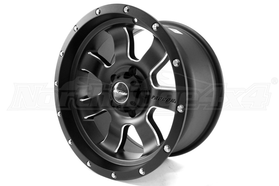 Pro Comp Series 39 Satin Black Milled Wheel 17x9 (Part Number:5139-7973)