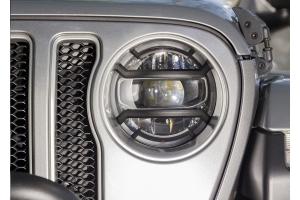 Rugged Ridge Elite Euro Headlight Guard Kit, Black  - JT/JL