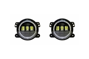 Quake LED Tempest Series 4in HD-RGB Fog Lights  - JL/JT