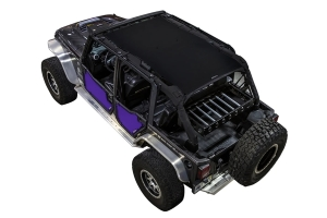 SpiderWebShade Front and Rear Rancho Rock Gear Tube Door ShadeSkins - Purple - JK 4Dr