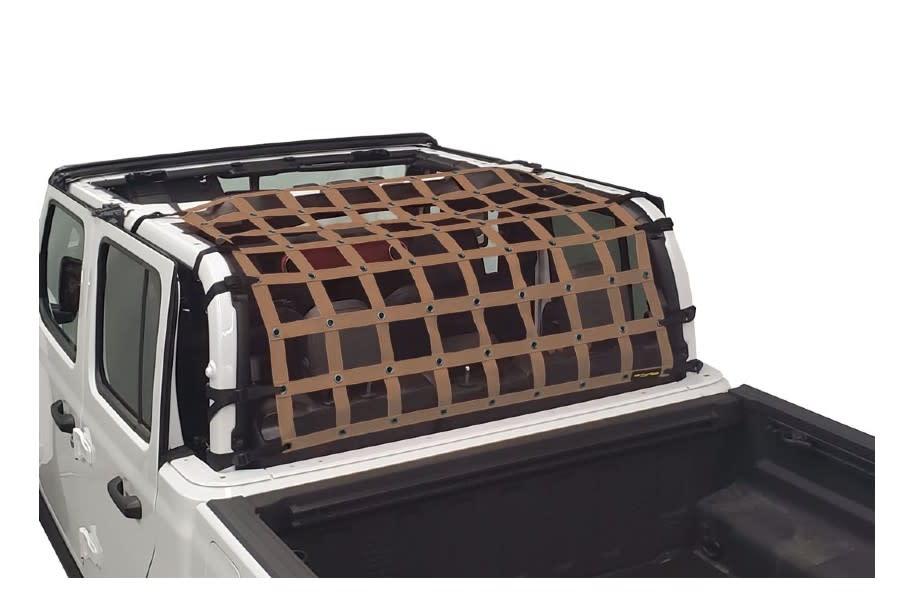 Dirty Dog 4x4 Rear Seat Netting, Sand - JT