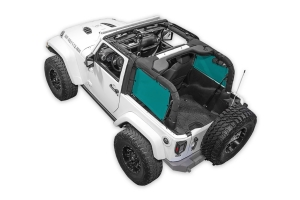 SpiderWebShade Rear 2-pc SpiderSides - Teal - JK 2Dr