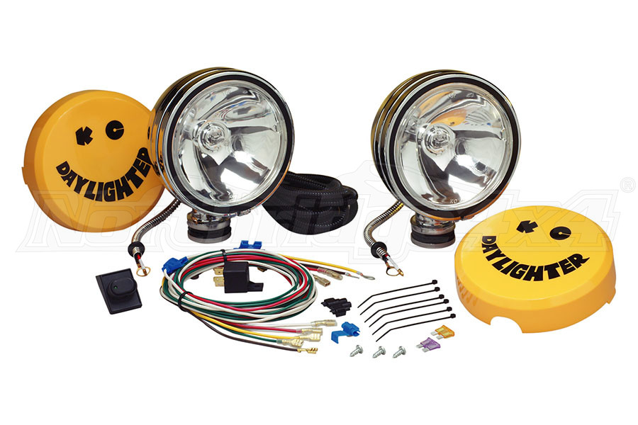 KC HiLites 6in Daylighter Halogen Pair Pack System Chrome Housing Spot Pattern 100W (Part Number:237)