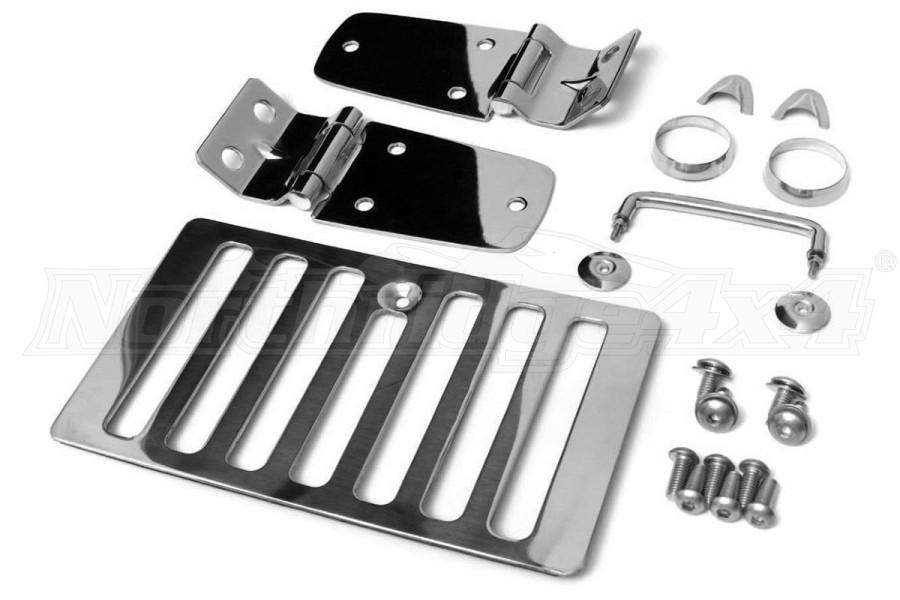 Smittybilt Complete Hood Kit Stainless Steel - TJ/LJ