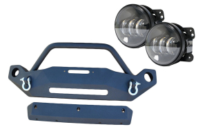 DV8 Offroad Hammer Front Bumper and Fog Light Package - JK