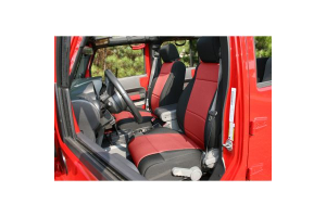 Rugged Ridge Front Seat Covers Black/Red (Part Number: )