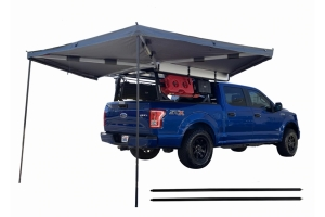Overland Vehicle Systems Nomadic 270 LT Awning - Passenger Side - Dark Gray w/ Black Cover