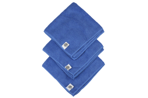 Chemical Guys Ultra Fine Microfiber Towels 3 Pack - Blue