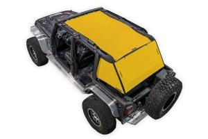 SpiderWebShade 2-Piece ShadeCage System - Yellow - JK 4Dr