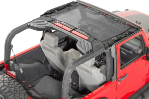 Dirty Dog 4x4 Front Seat Sun Screen Black (Part Number: )