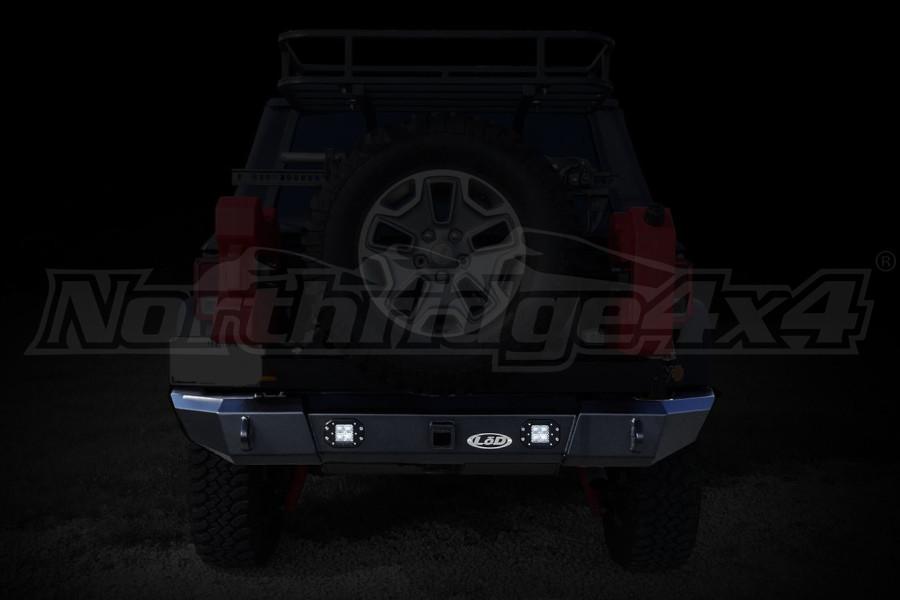 LOD Signature Series Rear Bumper w/Rigid Flush Light Provision Black ( Part Number: JRB0763)