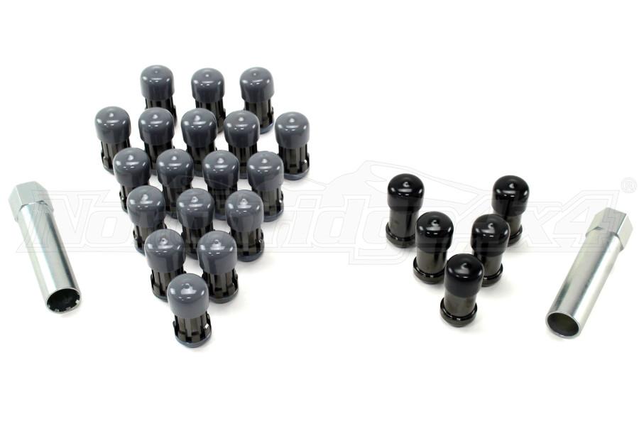 McGard Tuner/Splinedrive 23-Piece 1/2-20 Lug Nut Install Kit Black - JK