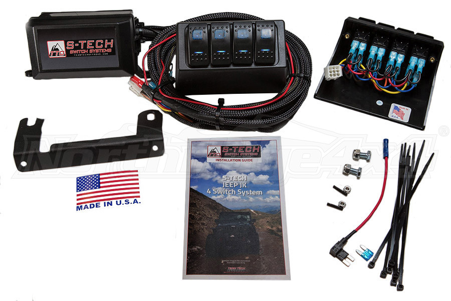 S-TECH Dual LED 4-Switch System Custom Molded Housing, Blue LED (Part Number:TTO-STECH-2BE)