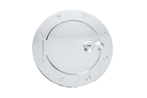 Rugged Ridge Non-Locking Polished Stainless Steel Gas Cap Door ( Part Number: 11134.03)