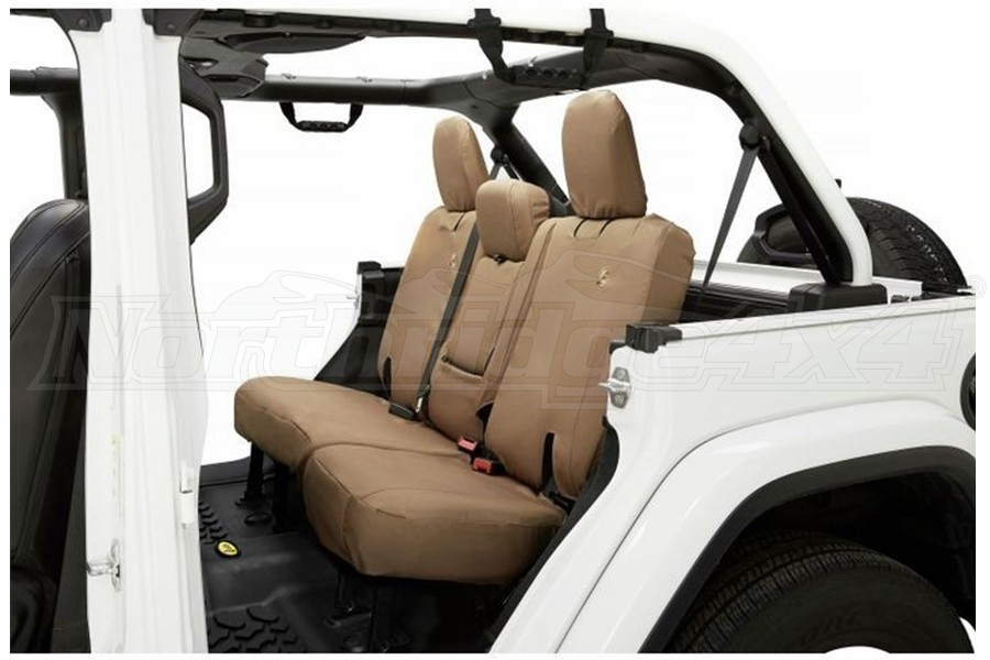 Bestop Rear Seat Covers w/o Armrest, Tan - JL 4dr