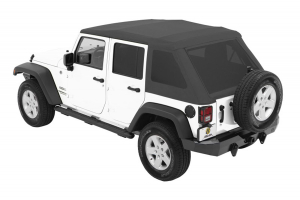Bestop Trektop NX Glide Soft Top with Tinted Side & Rear Windows - Grey Twill (Part Number: )