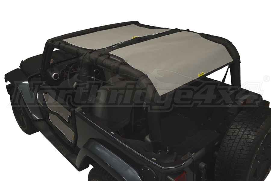 Dirty Dog 4x4 Sun Screen Front and Rear, Grey (Part Number:J2SS07F2GY)