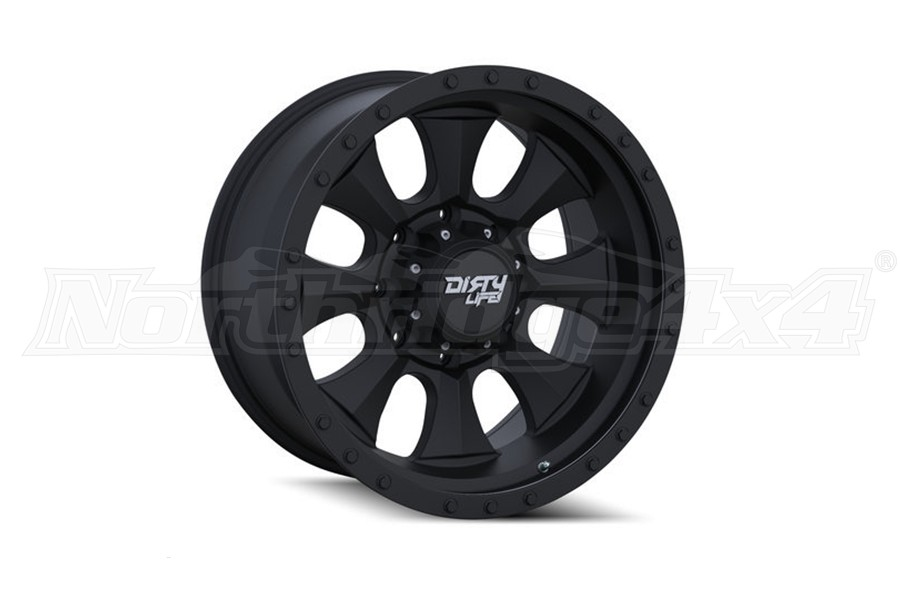 Wheel-1 Dirty Life Ironman 9300 Series Wheel Matte Black 17X8.5 5x5 (Part Number:9300-7873MB)