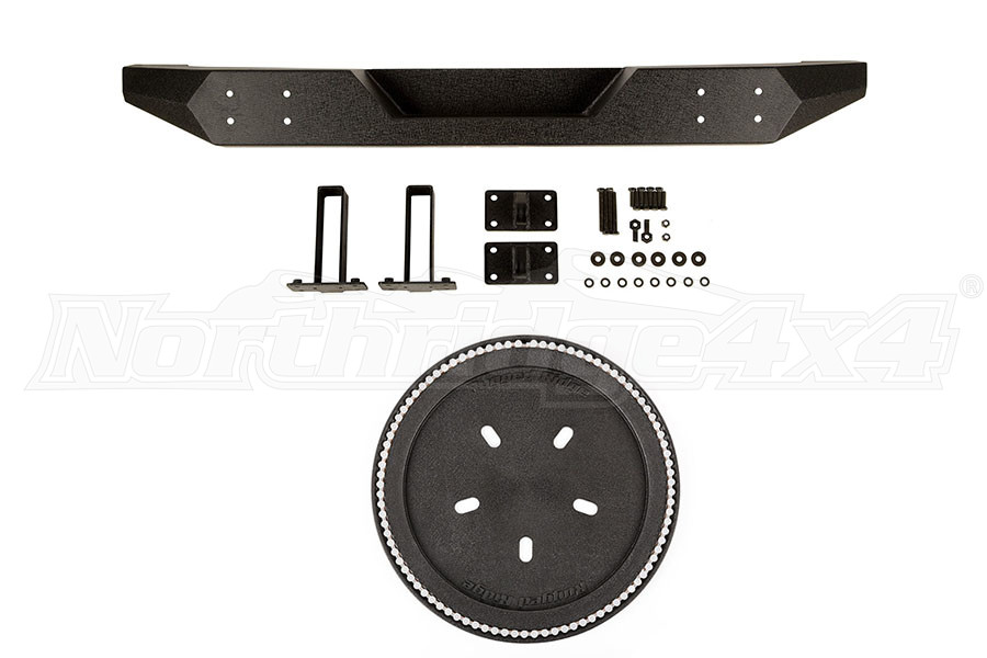Rugged Ridge Spartan Bumper w/ LED 3rd Brake Light Ring (Part Number:REARBUMPERPKG)