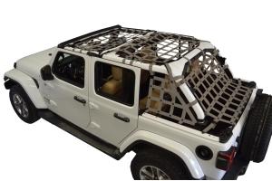Dirty Dog 4x4 5pc Cargo Side Netting Kit, Grey - JL 4Dr